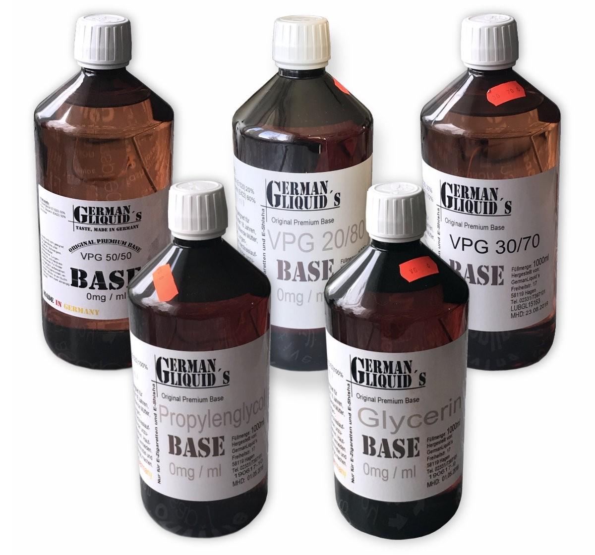 Premium Liquid Base GermanLiquids in 1 Liter ohne Nikotin